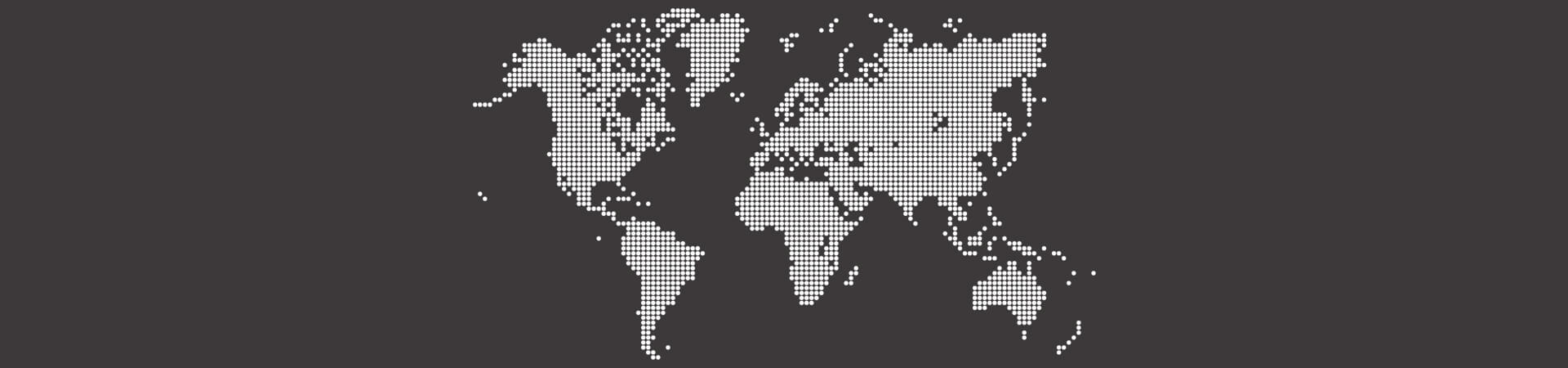Map of the world slider - we are active worldwide | InduTech instruments GmbH
